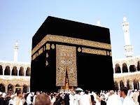 Allah'ın evi Kabe'nin kapı tarafından bir görüntüsü