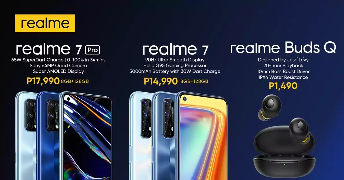 realme 7, 7 Pro and Buds Q Official Price