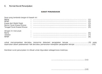 raden agus suparman : contoh format Surat Penunjukan