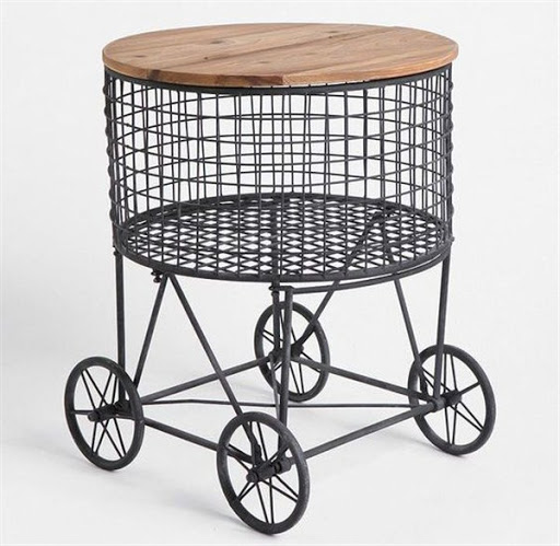 accent tables with baskets