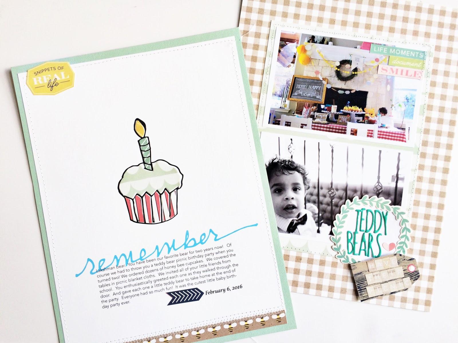Scrapbook ideas rainbow - Cocoa Daisy Scrapbook Layouts March Kit Brand New Day