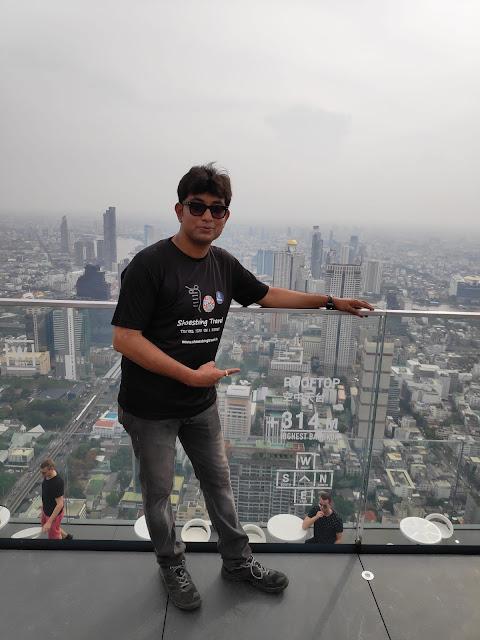 Shoestring Travel at Highest point in Bangkok