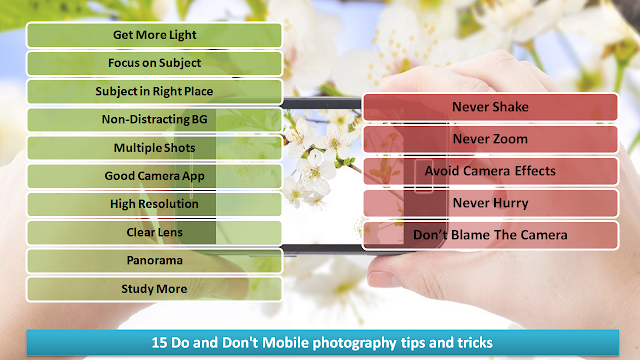15 Do and Don't Mobile photography tips and tricks