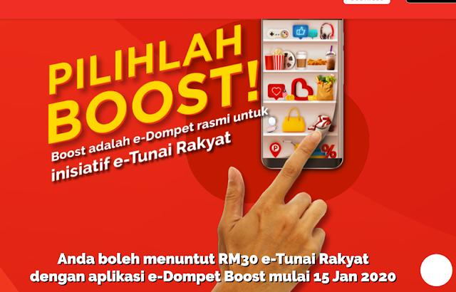 Cara Daftar Dan Tebus RM30 eTunai Rakyat