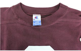 Champion Neck/collar label from the Throwbacks Collection
