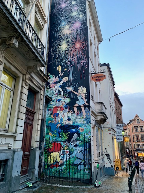 graffiti artwork in Brussels
