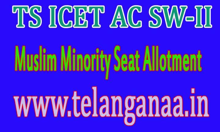 TS ICET AC SW-II Muslim Minority Seat Allotment 2017