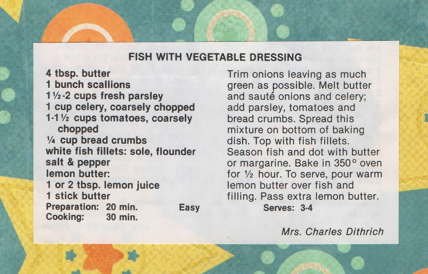 Fish with Vegetable Dressing (quick recipe)