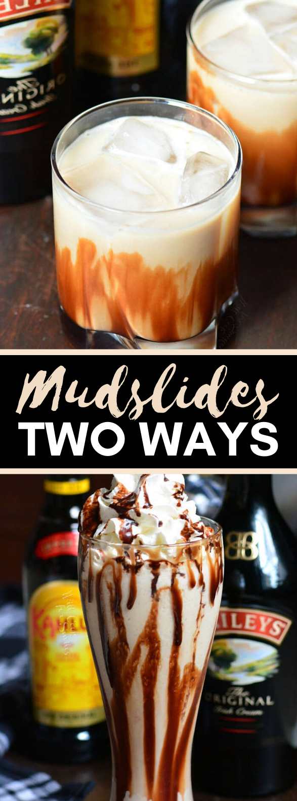 Mudslides Two Ways #drinks #cocktails