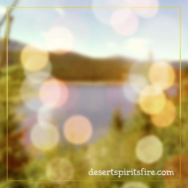desert spirit's fire bokeh sunrise