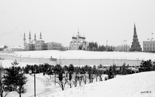 Белоснежный кремль - главная достопримечательность Казани. Находится под охраной ЮНЕСКО.