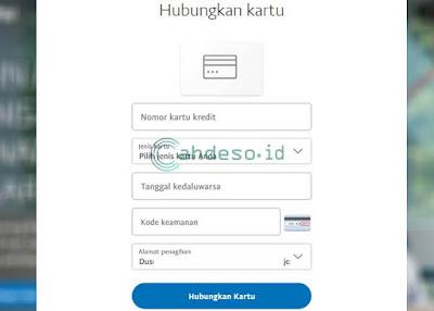 Verifikasi Akun Paypal dengan VCC