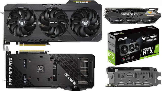 ASUS-TUF-RTX-3060-12GB-Gaming-Front-Back-Side-Top-IO-BOX