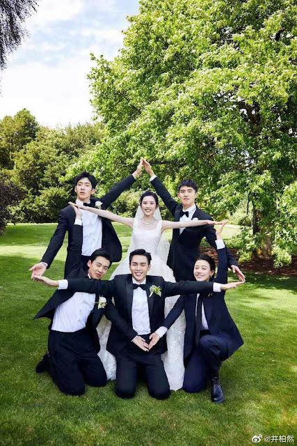 Tang Yixin Zhang Ruoyun wedding groomsmen