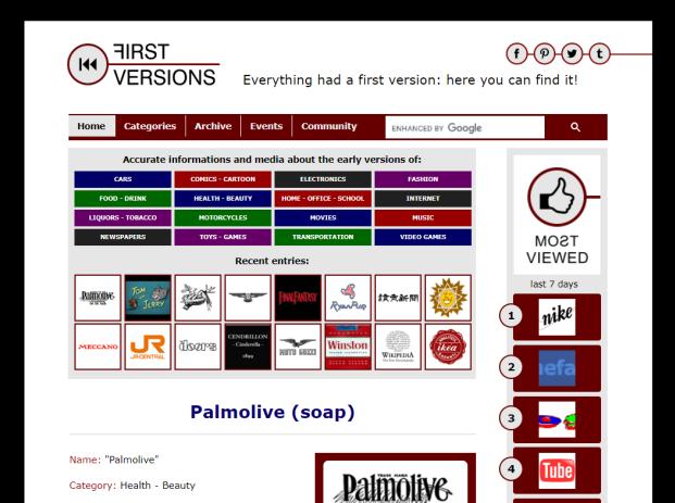 First Versions website - Web design, web content, webmaster: Ricontatto.com
