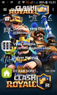 BBM MOD Clash Royale v3.1.0.13 APK Update Terbaru November 2016 (BBM New Style)