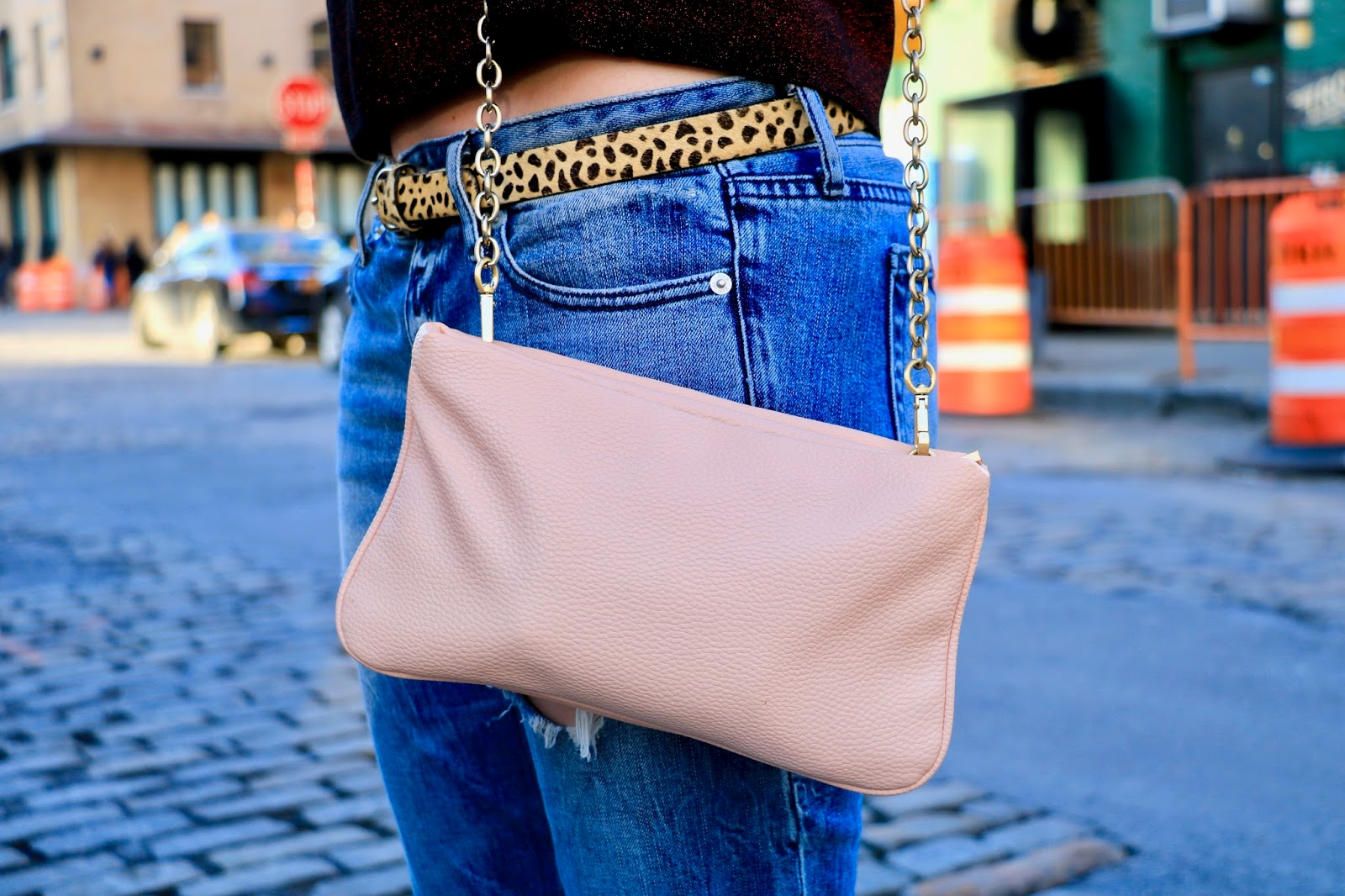 blush crossbody purse