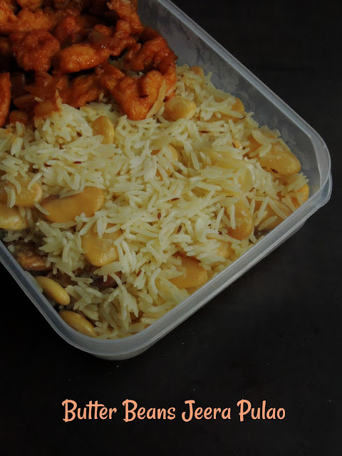 Jeera Pulao with Butter beans
