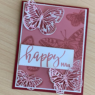 Rococo Rose butterfly card using Stampin' Up! Butterfly Brilliance