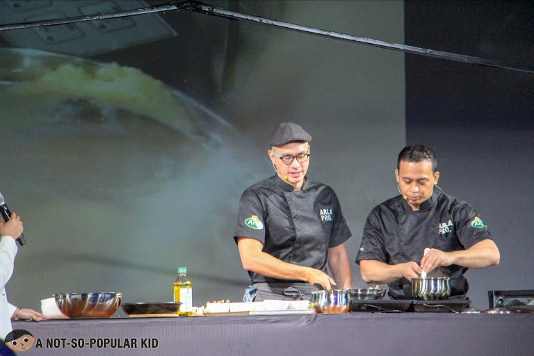 Chefs in action during the Arla Pro launch