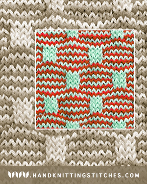 Mosaic Knitting - Wave and Box Slip Stitch Pattern