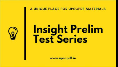 Insight IAS Prelims Test Series 2020