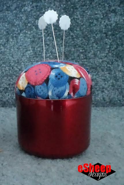Olay Regenerist lid pin cushion by eSheep Designs