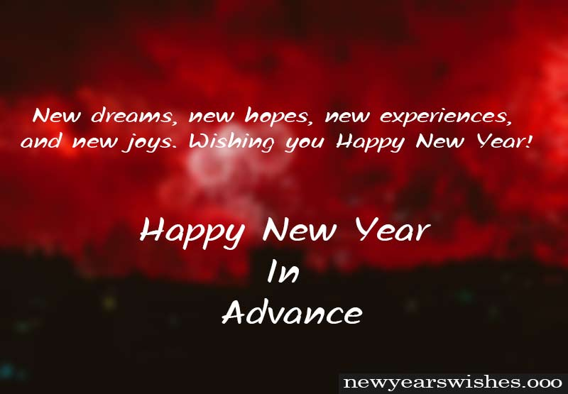 new year advance wish