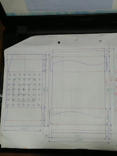 Gambar ukuran lipatan plat galvalum penghantar Alat Pemanas Elektrik - Krenovaku