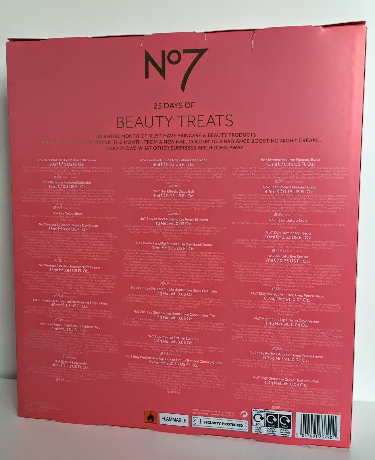 My 1st Weekly Blogpost About The Products I Got In No7 Advent Calendar Will Be On Other Blog 7th December Post Is Live