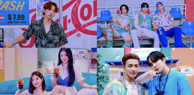 Ateez, Brave Girls, Monsta X y Rain se unen en SUMMER TASTE para 2021 K-POP PEPSI