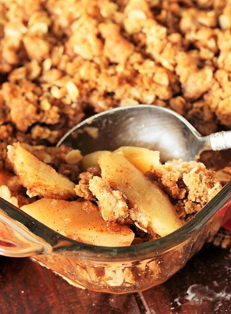 Baking Dish of Mom's Apple Crisp Image