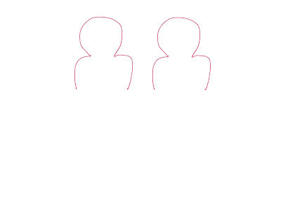 アイコン 「ミーティング」 (作: 塚原 美樹) ~ もう一人を右隣に描く