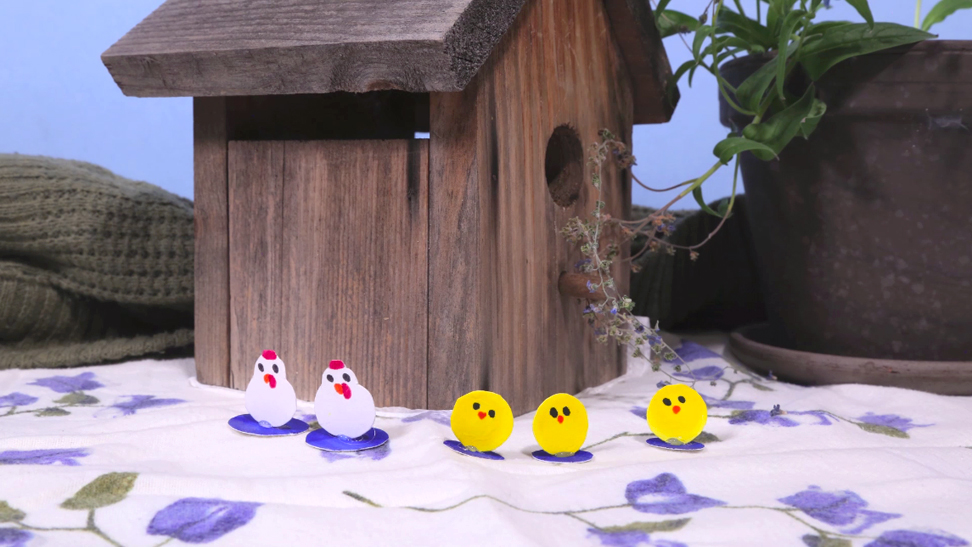 SAF 1 stop motion chickens and chicks