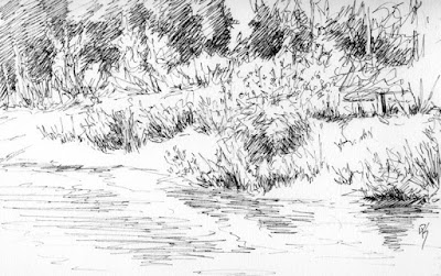 river nature sketch jordan parkway