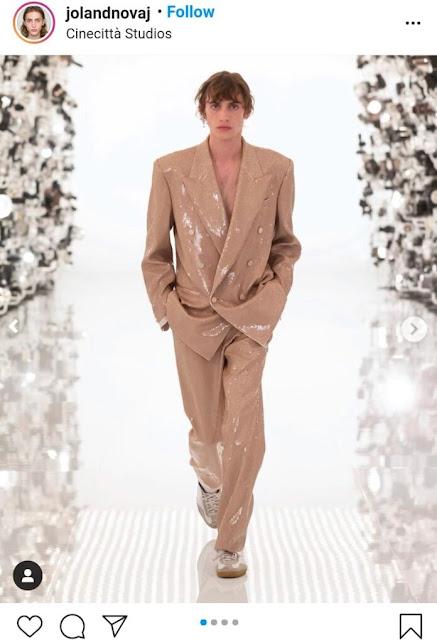 """Joland Novaj, l'albanese che ha catturato l'attenzione al gala """"Gucci & Balenciaga"""""""