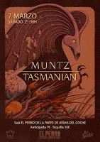 Concierto de Muntz y Tasmanian en El Perro de la parte de atrás del coche