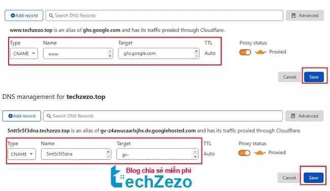 Hướng dẫn trỏ tên miền Namesilo về Blogspot trên Cloudflare 2021