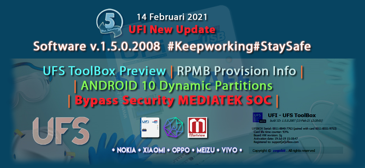UFI Software version 1.5.0.2008