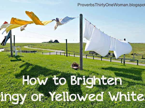 How to Brighten Dingy or Yellowed Whites