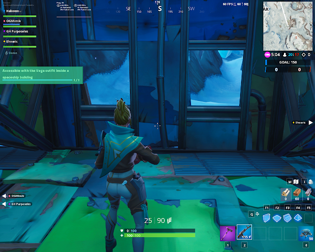 Accessible with the Vega outfit inside a spaceship building FORTBYTE Mission #19