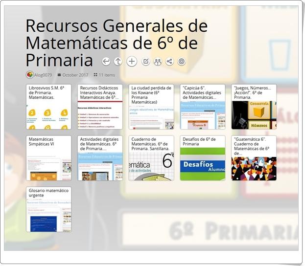 """""""11 Recursos Generales de Matemáticas de 6º de Primaria"""""""