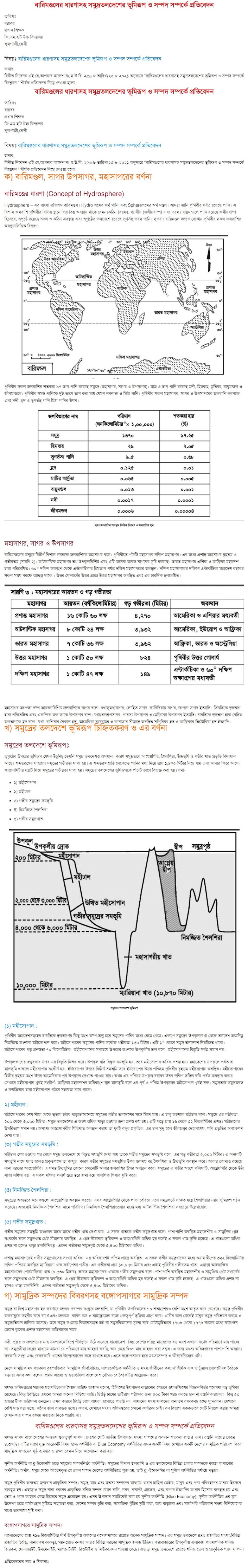 SSC Geography Assignment Answer 2021 6th Week
