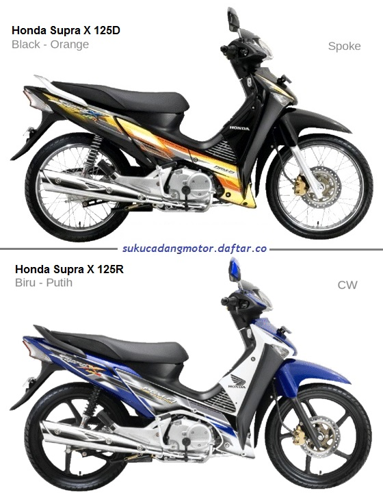 Daftar Harga Suku Cadang Honda Supra X 125 Lama Generasi Pertama 2005-2007