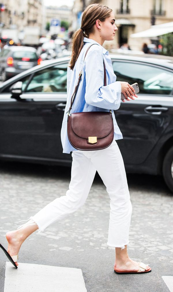 Parisienne: How to Wear White Jeans This Summer