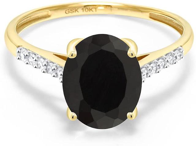 Non Diamond Engagement Rings Black Onyx