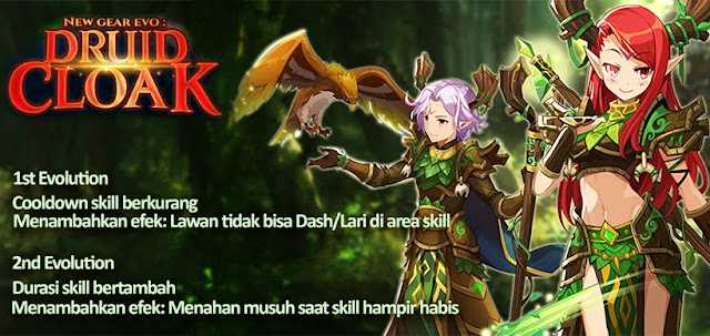 Druid Cloak Evolution Lost Saga Indonesia