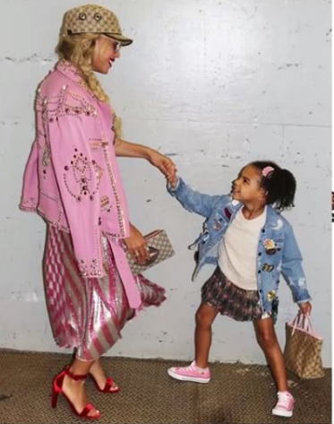 Image result for Beyonce and Blue Ivy serving mother/daughter goals in new photos