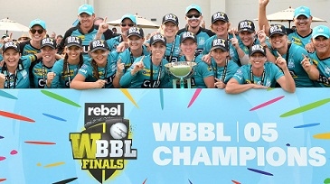 Brisbane Heat beat Adelaide Strikers to win the WBBL05 title 2019.