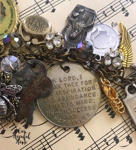 vintage silver Remy key St. Anthony's Home Detroit MI charm